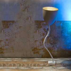 In-es.artdesign - Flower - In-es.artdesign Flower Cemento Stehlampe