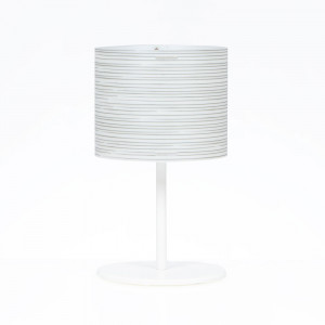 Emporium - Rigatone - Rigatone TL M - Circular lampshade table lamp
