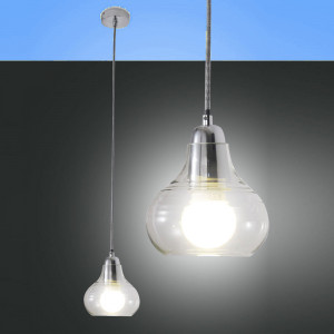 Fabas Luce - Liri - Liri SP S CR - clear glass suspension