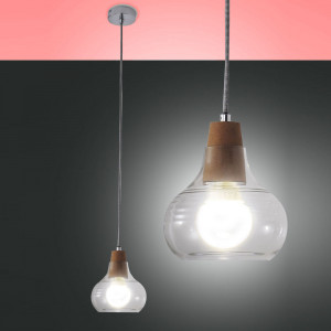 Fabas Luce - Liri - Liri SP S SG - glass and cork suspension