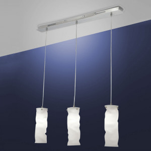 Fabas Luce - Melt - Melt SP M square - Metal and blown glass suspension