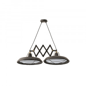 Faro - Indoor - Industrial - Plec SP 2L EX LED - Extendable LED pendant lamp with 2 lights