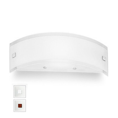 Linea Light - Mille - Mille LED AP XS - Versatile applique - Brushed nickel/Cherry Wood -  - Warm white - 3000 K - Diffused