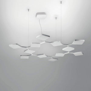 Ma&De - Quad - Quad P3 SP 12 - LED suspension lamp with twelve elements