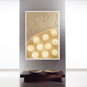 In-es.artdesign - Lunar - Ten moons - Tableau lumineux