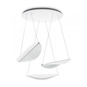 Ma&De - Diphy - Diphy P SP LED - Suspension avec trois éléments en forme de feuille lumière LED
