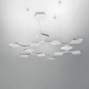 Ma&De - Quad - Quad P3 SP 12 - Lampe suspendue LED à douze éléments