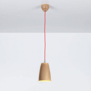 Emporium - Grog - Grog SP S - Lampada a sospensione a una luce in legnolene