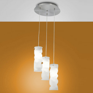 Fabas Luce - Melt - Melt SP M round - Lampadario di design in vetro
