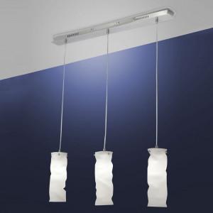 Fabas Luce - Melt - Melt SP M square - Sospensione in metallo e vetro soffiato