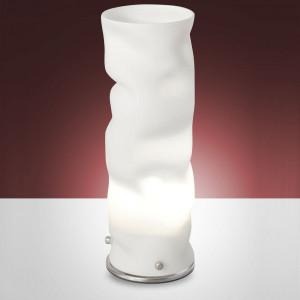 Fabas Luce - Melt - Melt TL S - Lampada da tavolo finitura nickel