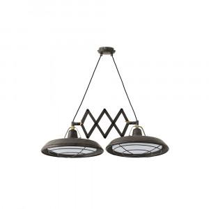 Faro - Indoor - Industrial - Plec SP 2L LED - Lampada a sospensione LED allungabile a due luci