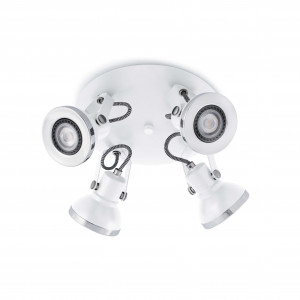 Faro - Indoor - Ring - Ring Pl 4L LED - Lampada a soffitto con 4 luci LED