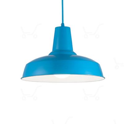 Ideal Lux - Bright - Moby SP1 - Lampada a sospensione in metallo - Azzurro - LS-IL-160825