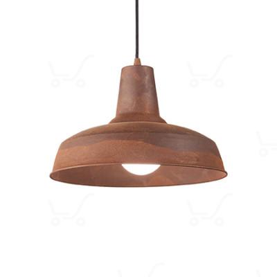 Ideal Lux - Bright - Moby SP1 - Lampada a sospensione in metallo - Corten - LS-IL-170657