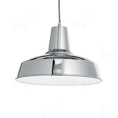 Ideal Lux - Bright - Moby SP1 - Lampada a sospensione in metallo - Cromo - LS-IL-093680