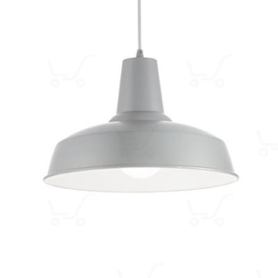 Ideal Lux - Bright - Moby SP1 - Lampada a sospensione in metallo - Grigio - LS-IL-160832