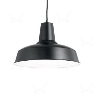 Ideal Lux - Bright - Moby SP1 - Lampada a sospensione in metallo - Nero - LS-IL-093659