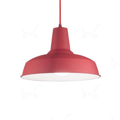 Ideal Lux - Bright - Moby SP1 - Lampada a sospensione in metallo - Rosso - LS-IL-152769