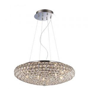 Ideal Lux - King - King SP7 - Elegante lampada a sospensione con cristalli