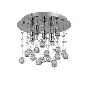 Ideal Lux - Moonlight - Moonlight PL5 - Lampada soffitto con pendagli in cristallo