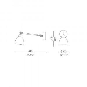 Ideal Lux - Newton - Newton AP1 - Applique con diffusore orientabile in metallo
