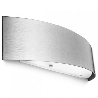 Linea Light - Curvè - Lampada da parete Curvè M - Nichel satinato - LS-LL-1031