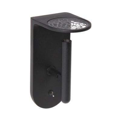 Ma&De - 2Nights - 2Nights W2 AP LED on/off switch - Lampada a parete a Led con interruttore on/off integrato - Nero/Nero -  - Bianco caldo - 3000 K - 70°