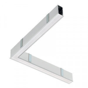 Traddel - Profilo incasso totale - Mini Outline LED - Curva 90° soffitto/soffitto sx