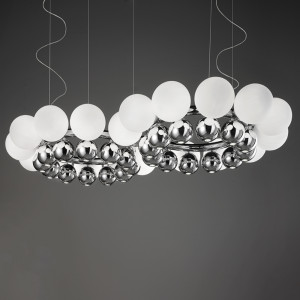 Vistosi - 24Pearls - 24Pearls SP K2 LED - Lampadario in vetro con luci LED